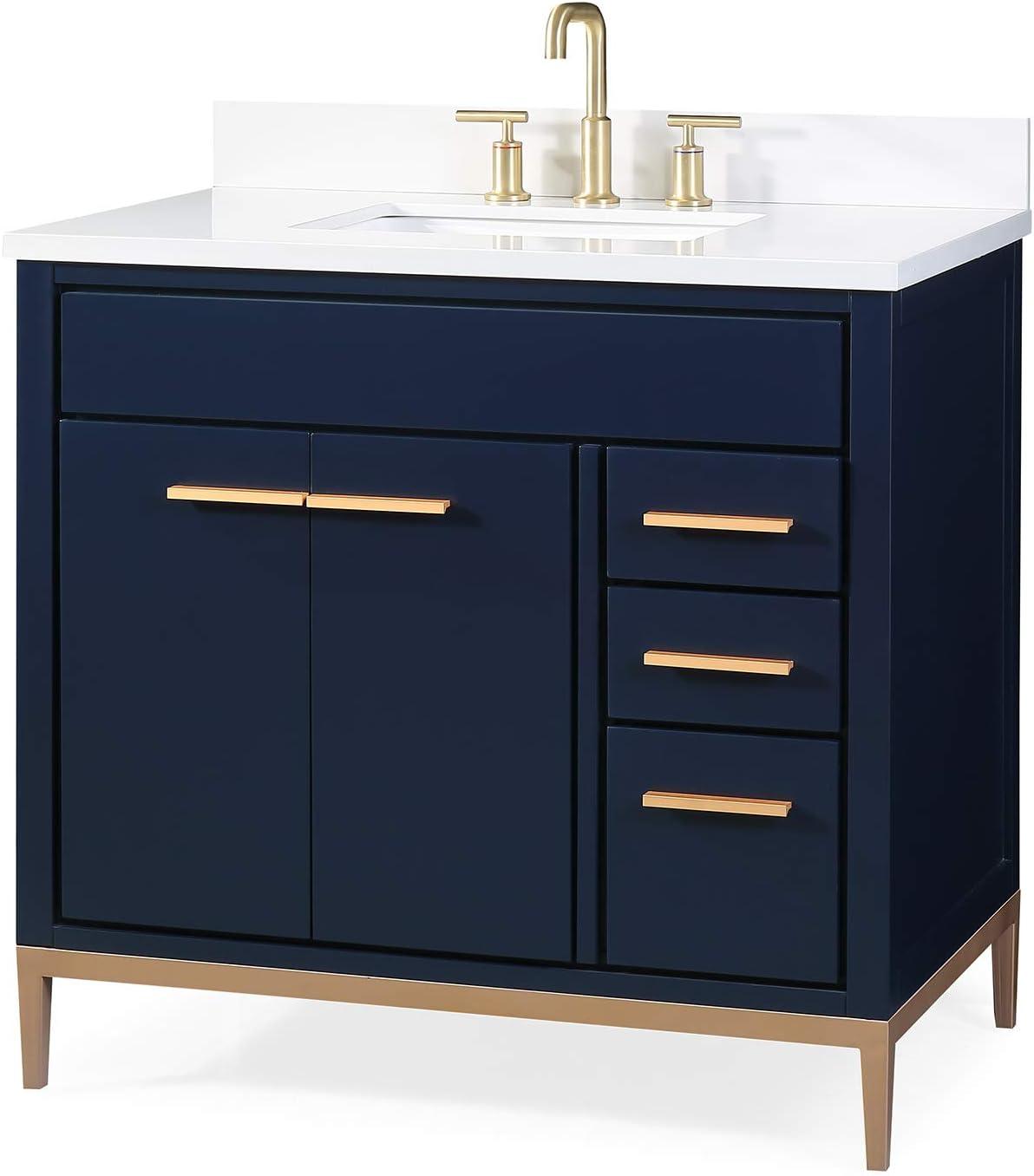 36 Beatrice Modern Navy Blue Bathroom Vanity Tb 9888nb V36 Amazon Com