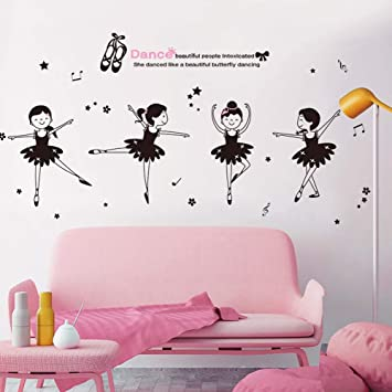 Iwallsticker Diy Creative Dancing Girl Wand Aufkleber Fur