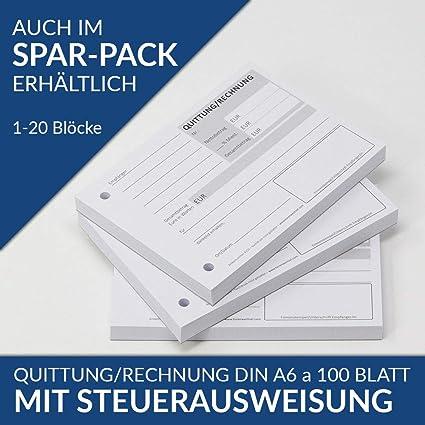 bloque/factura Bloc de facturas DIN A6 100 hojas, perforado ...
