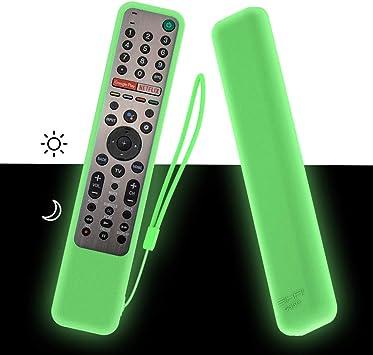 MOSHOU Ajustado Adapta Mando Funda de Silicona Compatible con Sony KD/XG95/AG9 Series TV Remote RMF-TX600E RMF-TX500E RMF-TX500U Anti-caída Protectora a Prueba de Polvo de Caucho (Luminoso Verde): Amazon.es: Electrónica