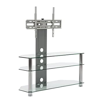 Amazon Com Mmt Glass Floor Tv Stand With Mount Fits Flat Panel
