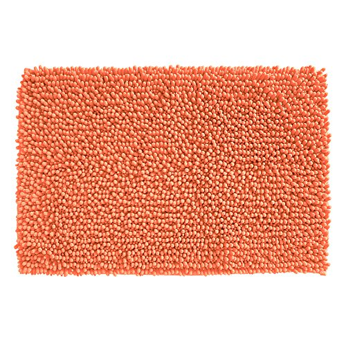 Orange Bamboo Rug - InterDesign Microfiber Frizz Bathroom Shower Accent Rug - 30