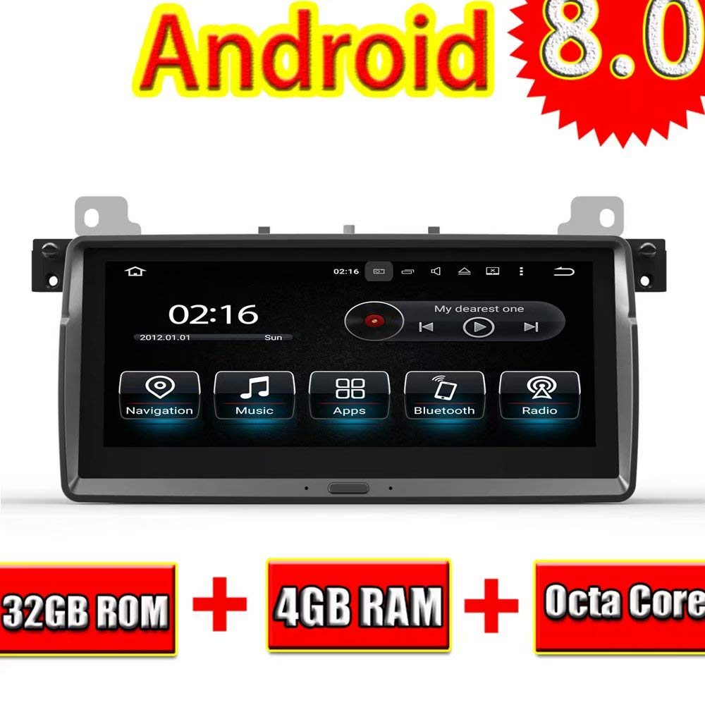 ROADYAKO 8 8 Inch Android 8 0 Auto Auido for BMW E46/M3 1998 1999 2000 2001  2002 2003 2004 2005 2005 Car Radio Stereo GPS Navi WiFi 3G RDS Mirror Link