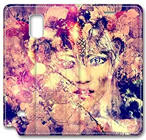 Abstract Artistic Psychedelic Leather Cover for Samsung Galaxy Note 4 by ruishername