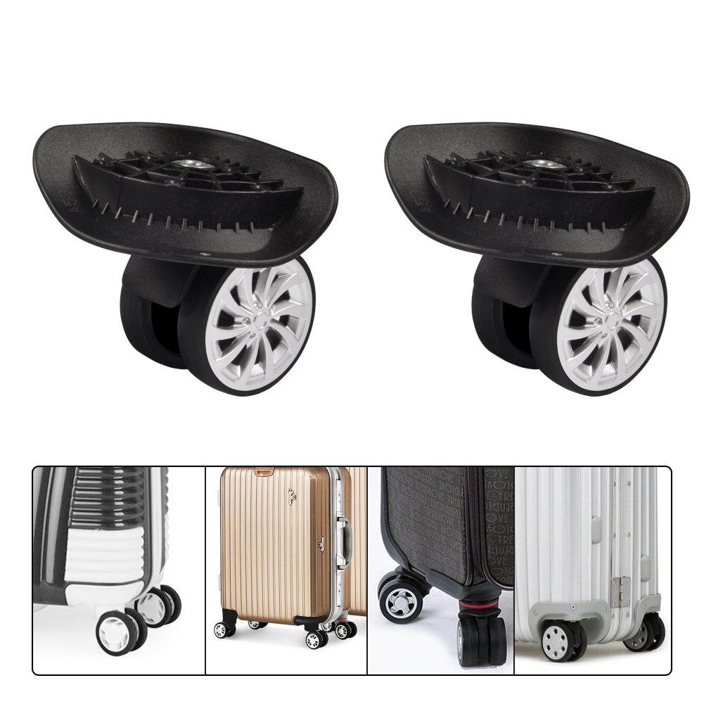 Luggage Suitcase Wheels, Swivel Wheel Inline Outdoor Skate Replacement Luggage Travel Suitcase Wheels Plastic(1 Pair) (2 Wheel)