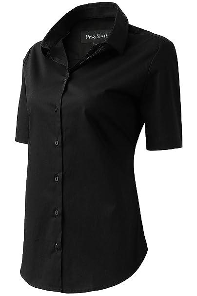 0f9f7e130c FLY HAWK Women s Blouse Button Down Dress Shirts