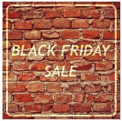 Black Friday Sale Ghost Aged Brick Clear Window Cling 5-Pack CGSignLab 24x24