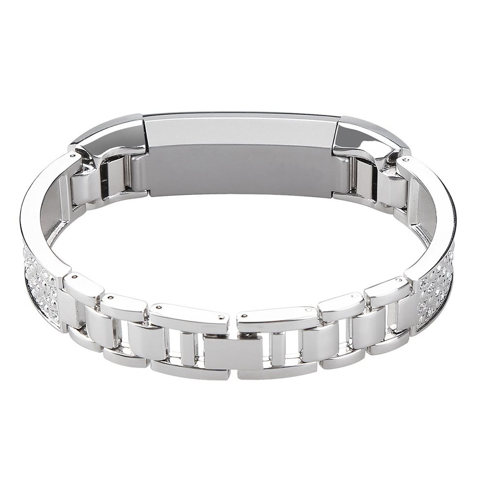 SILVER RHINESTONE New Wristband Band Strap Bracelet For