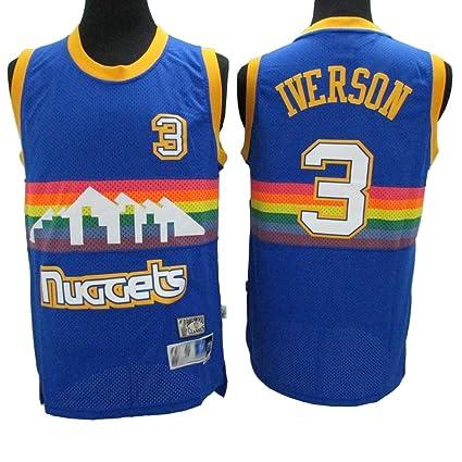 meet 95b2d 6994d TGSCX NBA Nuggets Rainbow Edition 3# Vêtements de Basketball ...