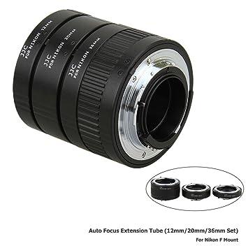 JJC 3-Pièce (12mm 20mm 36mm) Métal Bagues-allonges pour Nikon AF ... 63f80a29e023