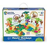 : Learning Resources Gears! Gears! Gears! Movin' Monkeys Building Set, 136 Pieces