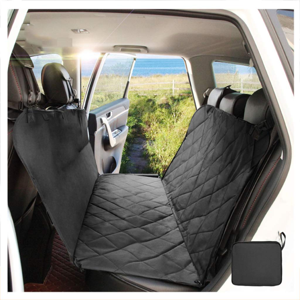 Black-A 150X130CM Black-A 150X130CM BYCDD Waterproof Dog Car Seat Covers, Pet Back Seat Covers Cover Predector Scratch Proof Nonslip with Storage Pockets for Cars Trucks and SUVs,Black-A_150X130CM