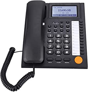 Corded Phone,Landline Telephone Corded/Cordless Speakerphone with Answering System and Caller ID/Call Waiting(Black)