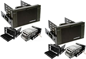Amamax EverCool HD-AR-B(Pack of 2) Dual 5.25 in. Drive Bay to Triple 3.5 in. HDD Cooling Box