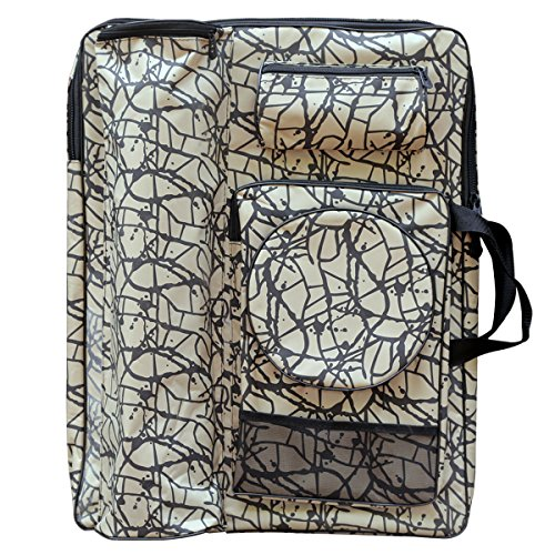 Transon Waterproof Art Portfolio Bag Tote and Backpack Oxford Fabric Grey Color Size 26.3''x18.9'' by Transon