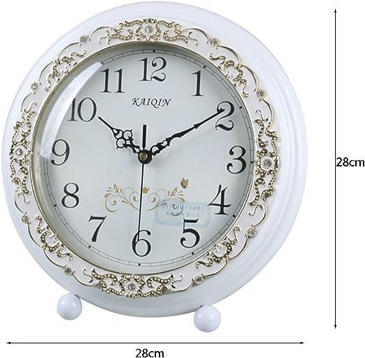 Clock LANNA SHOP- Mantel Mantle Rhythm Quartz Wooden living room desk Color White