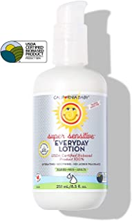 product image for California Baby Everyday Lotion (8.5 Ounces) Moisturizer for Dry, Sensitive Skin | Post Bath and Diaper Changing | Non-Greasy, Fast-Absorbing Formula (Super Sensitive - 8.5oz)
