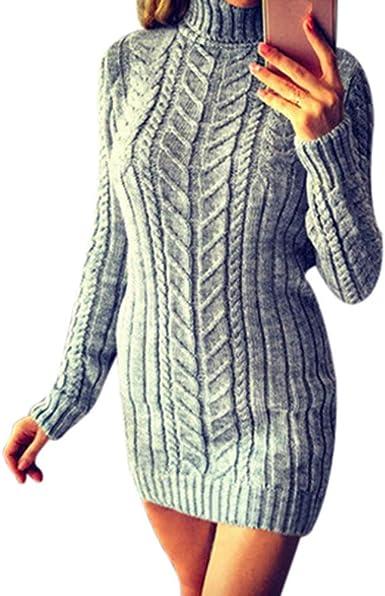 Übergröße Damen Langarm Kapuze Strickjacken Kapuzenpullover Shirtkleid Longtops