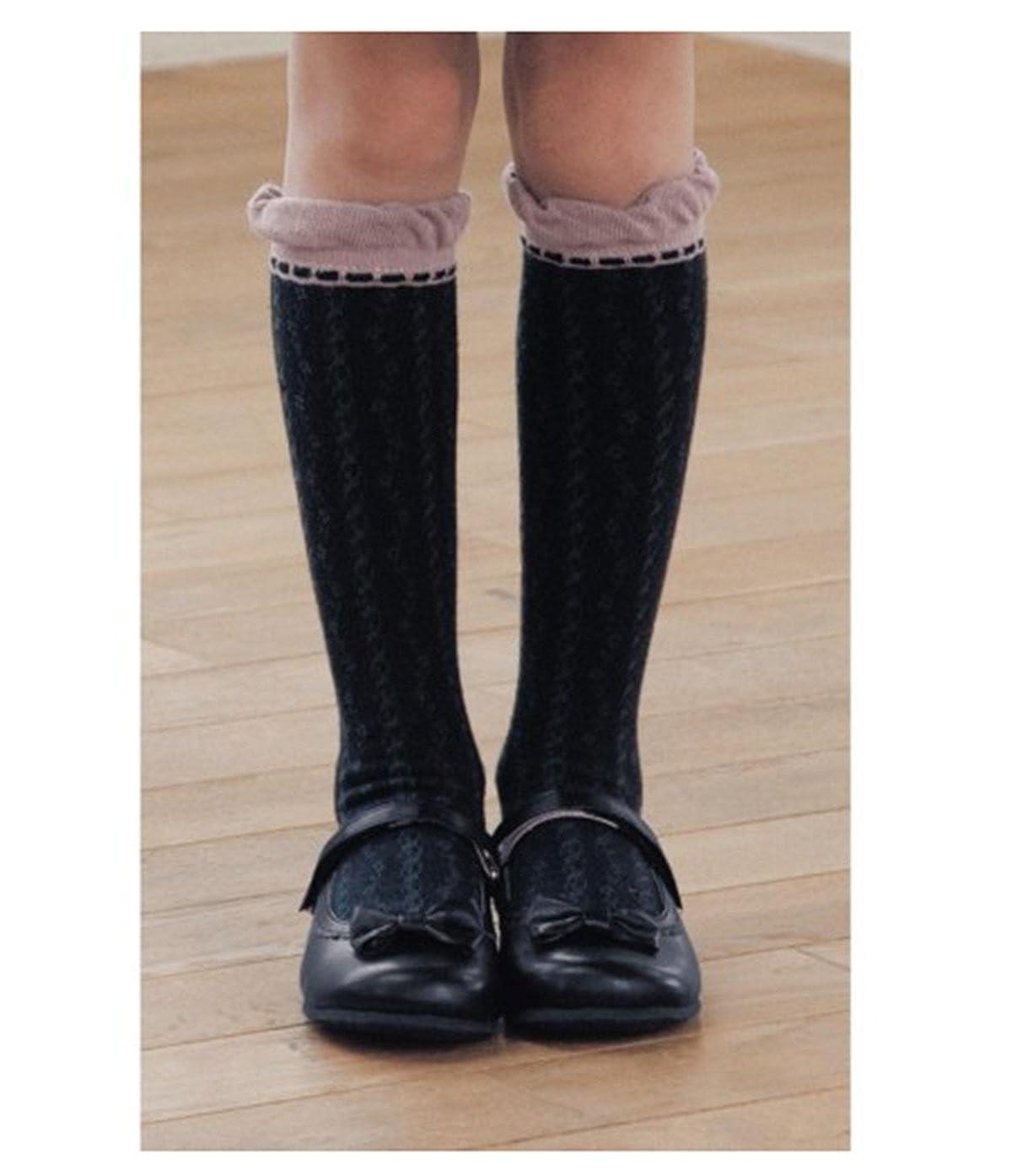 Little Girls Knee High Socks Cotton Comfort Socks 3 Pair Pack
