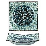4 Pieces of Japanese 5.25'' Porcelain Manyo Karakusa Dinnerware Plates