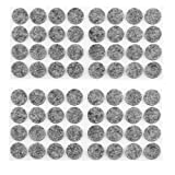 uxcell® Furniture Felt Round Shaped Non Scratch Floor Protectors Pads 64 Pcs