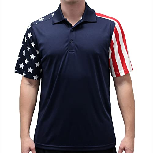 Mens Stars & Stripes Polo ...