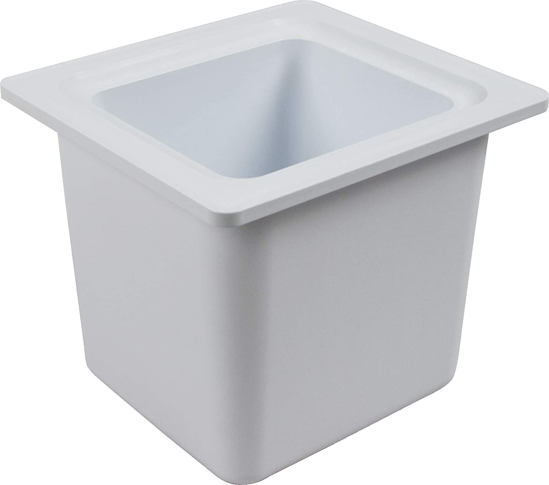 San Jamar - CI7001WH CI7001 Chill-It 1/6 Food Pan, 52 oz Capacity, White