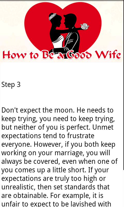 How to become a good wife