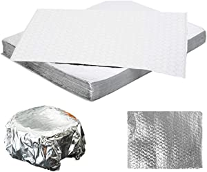 MM Foodservice Insulated Foil Sandwich Wrap Sheets, Insulated Cushion Foil Wrap, Honeycomb Insulated Wrap, 10 3/4 Inch x 14 Inch Sheets (Pack of 100)