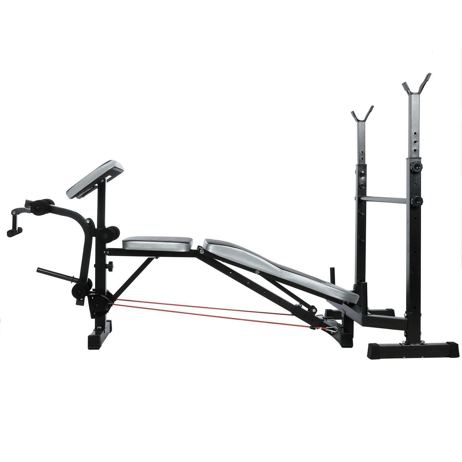 Olympic Wider Weight Bench Set for Home Gym Workout Power Training Exercising, Adjustable Bench Seat with Barbell Rack by Evokem (Image #3)