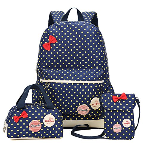 Price comparison product image Freedi 3Pcs Backpack Cute Lightweight Shoulder School Bag Bookbags for Teen Girls Casual