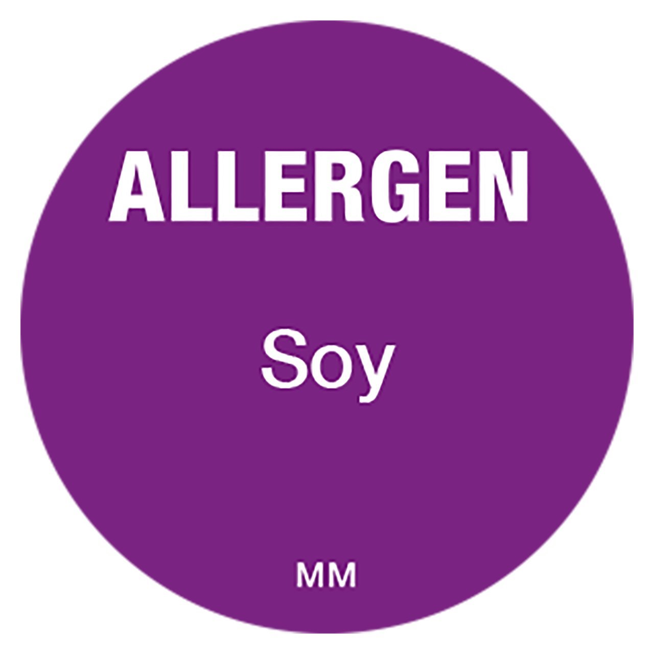 Soy DayMark IT117118 MoveMark Allergen Removable Circle Label Purple 1 Diameter Roll of 1000