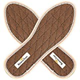 Stinky Feet Shoe Deodorizer Insoles - Eliminate and Remove Foot Odor from Sweaty and Smelly Feet - with Cinnamon - Natural Convenient Cure - Durable Inserts for Daily Use (Men's 5 / Wom's 6.5)
