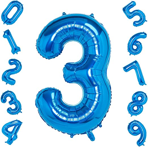 "Number 5 Blue Giant Jumbo 34/"" SuperShape Foil Helium Balloon Birthday"