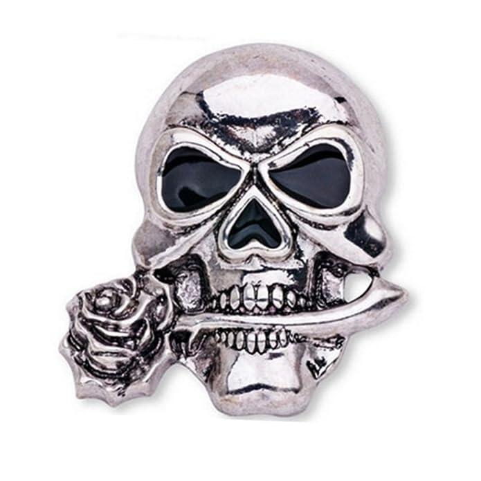 Luoem Gothic Skull Bones Brooch Pin Elegant Skeleton Brooch for Evening Party Suit
