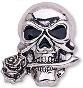 LUOEM Broche de Broche gótico de los Huesos del cráneo Broche de Esqueleto Elegante para el Traje de la Fiesta de Noche