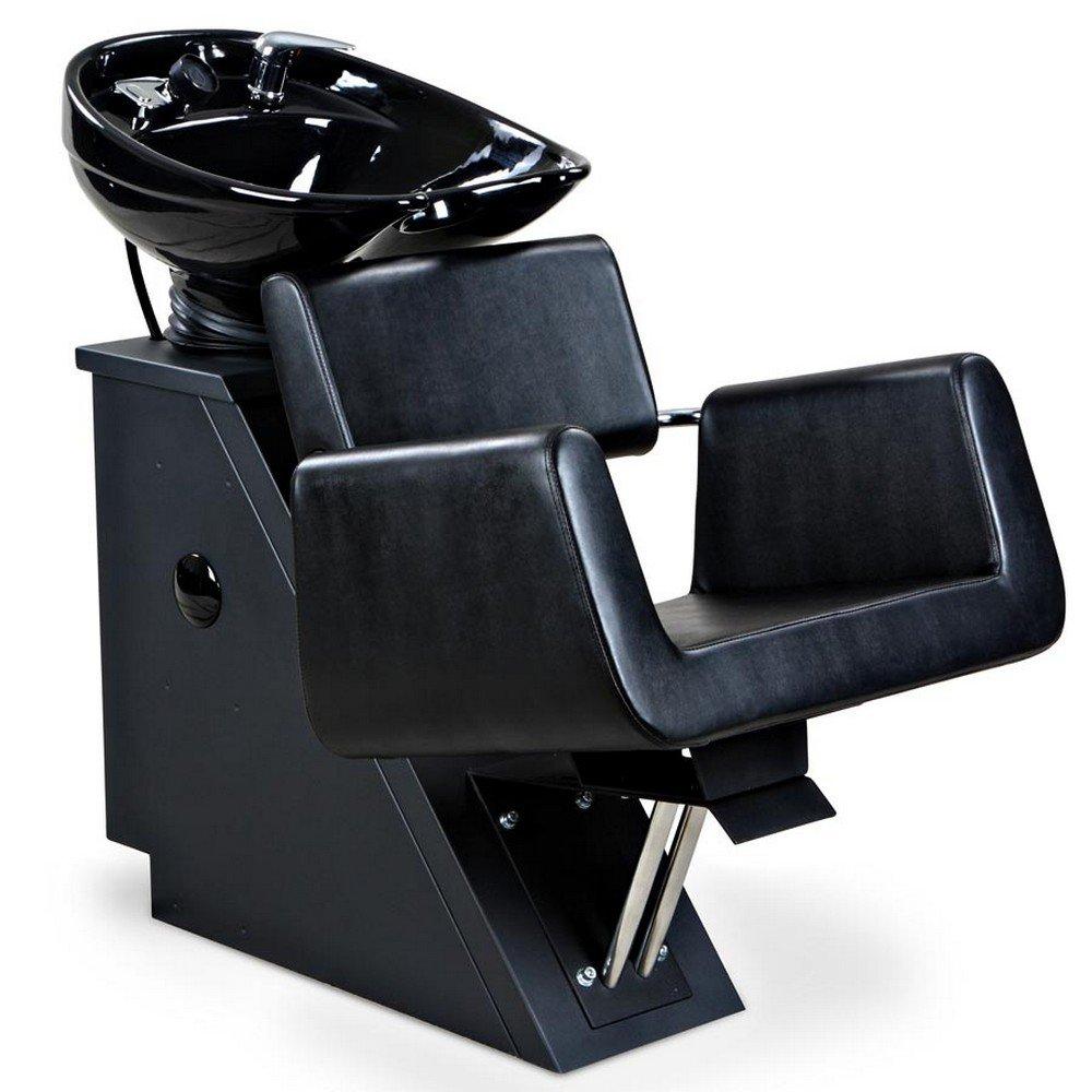 Icarus ''Hepburn'' Black Beauty Salon Shampoo Chair & Sink Bowl Backwash Unit