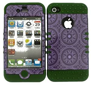 good case Combo For iPhone 5 5s Army Green Skin W/ Trans mbLfYxTDoj4 Purple Circular Patterns case cover