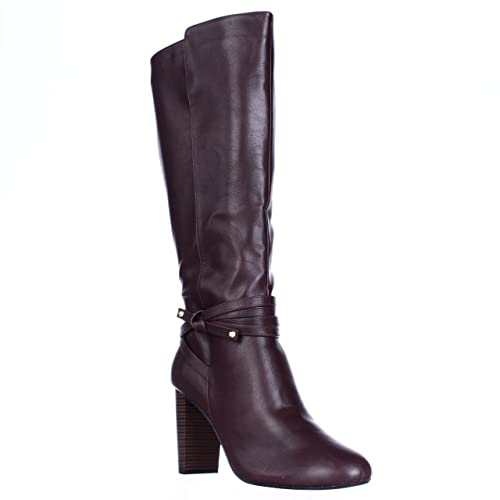 0027109ed23a Thalia Sodi TS35 Aldap Ankle Wrap Knee High Dress Boots