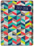 Tallon A5 Week to View Geometric Academic Mid Year Student Diary 2017-2018