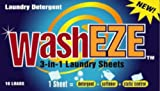 WashEZE All in One Laundry Sheets Scented 10 Ct Pkg