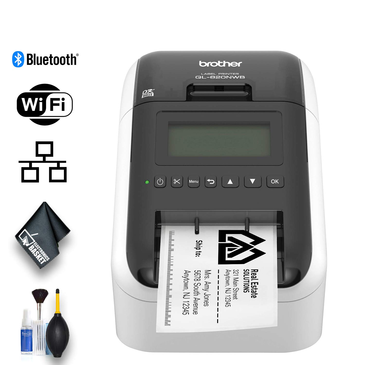 Brother QL-820NWB Professional Ultra Flexible Label Printer - Essential Bundle by Brother (Image #1)