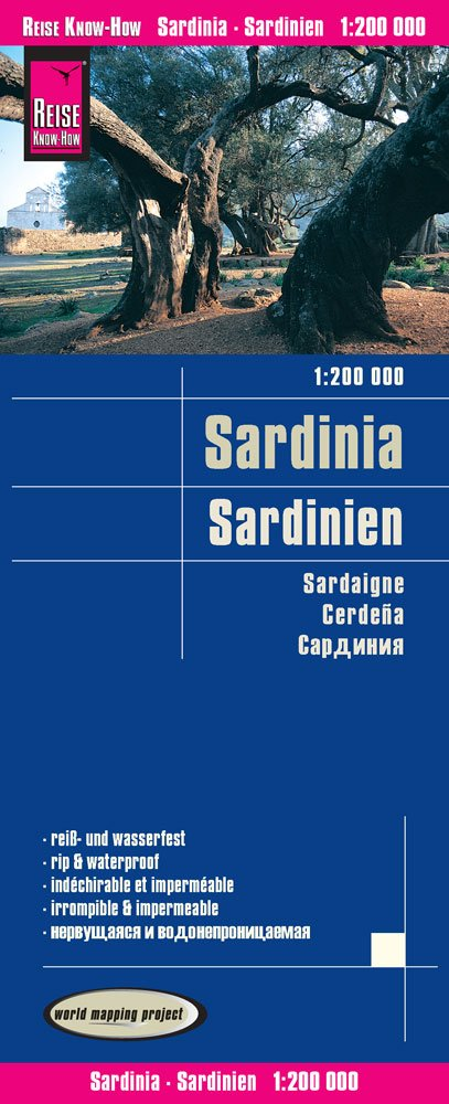 Reise Know-How Landkarte Sardinien (1:200.000): world mapping project