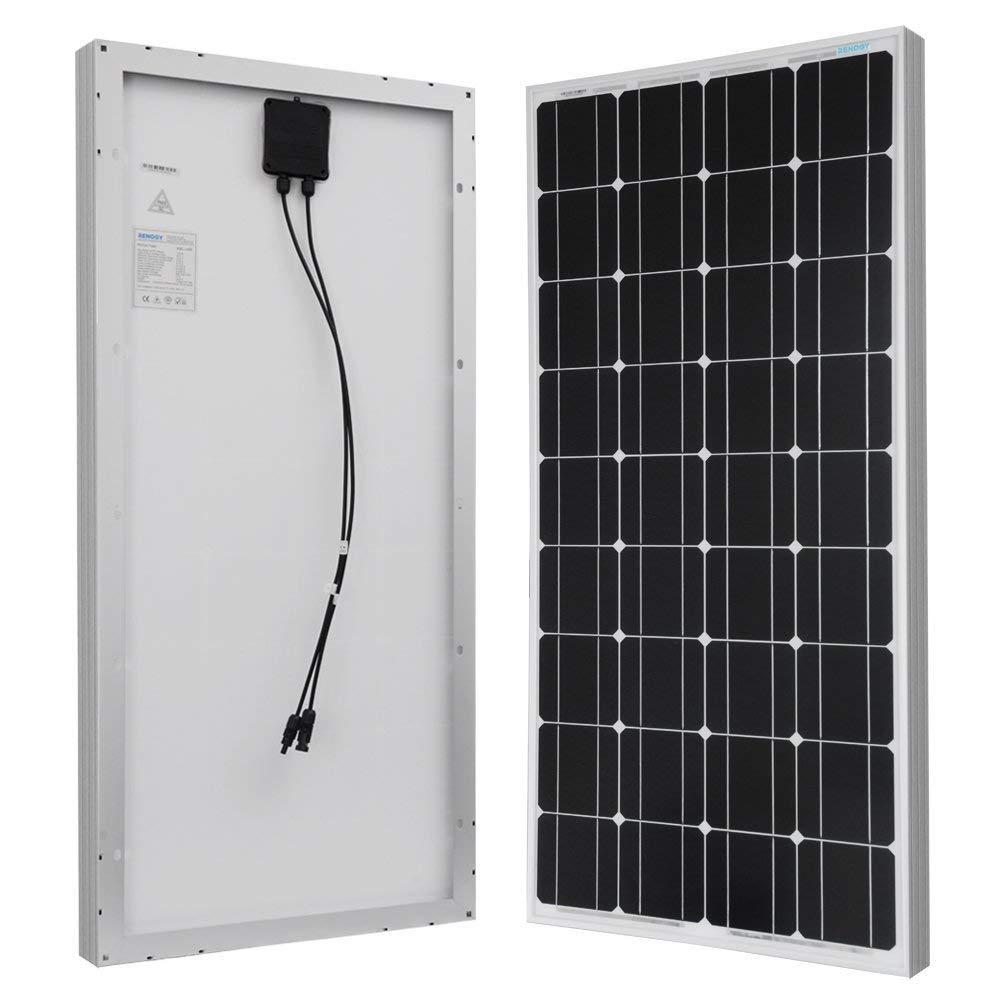 Caravan Compact Design Ideal for Off Grid PV System on RV Motorhome ANFIL 100 Watt 12 Volt Monocrystalline Solar Panel Camper or Boat