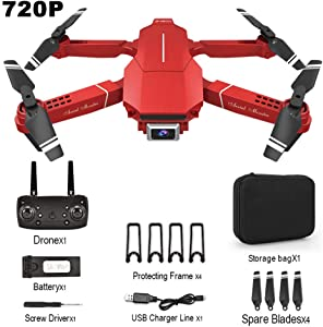 S28esong E98 Foldable Drone, WiFi FPV Drones with Camera for Adults, RC Quadcopter Drone, One Button Return Home, Altitude Hold, Gravity Control, Follow Mode, 15 Mins Flight Time