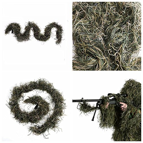 ABCAMO Woodland Camoflage Polyester Ghillie Rifle Wrap