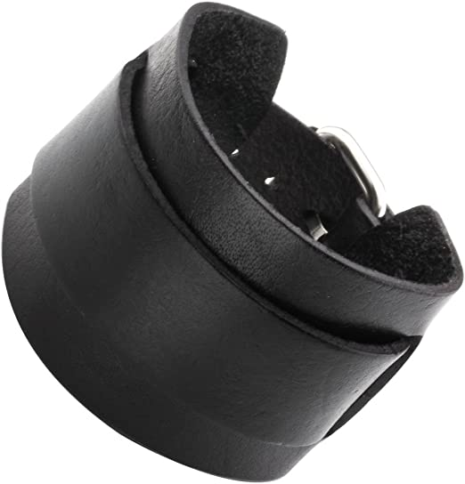 Men/'s Adjustable Punk Wide Genuine Leather Belt Bracelet Bangle Cuff Wristband