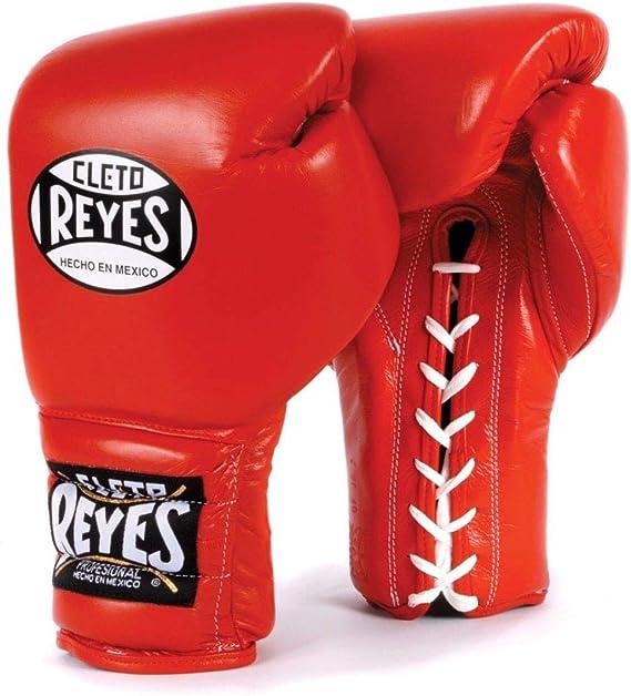Cleto Reyes - Guantes de boxeo tradicionales con cordones, color rojo: Amazon.es: Deportes y aire libre