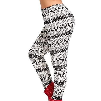 1353045894489c Amazon.com: Franterd Plus Size Christmas Leggings Women Christmas ...