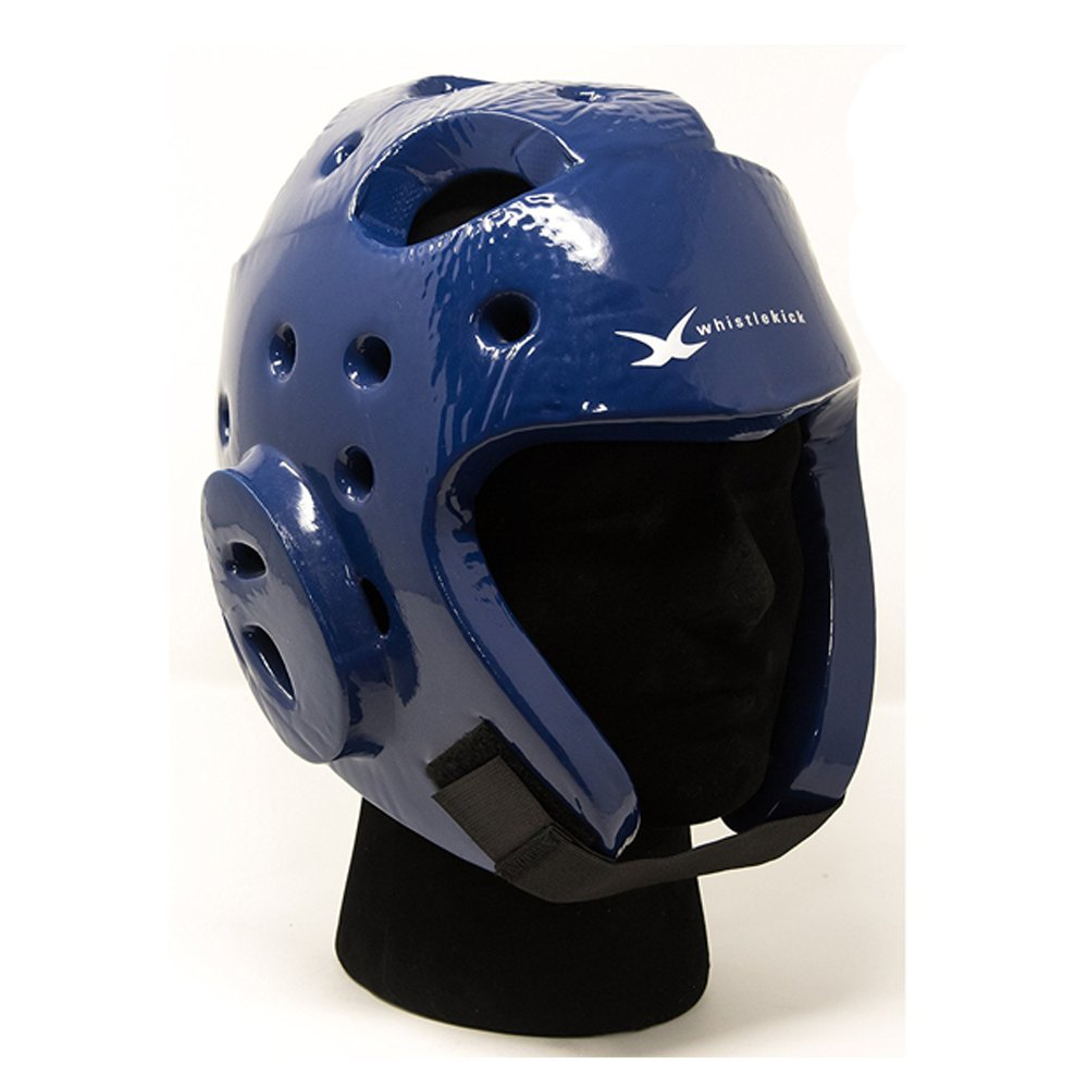 Whistlekick格闘技スパーリングヘルメット – 空手スパーリングHeadgear with Freeバックパックテコンドー格闘技機器セットSparring Gear Set空手Sparring Gear Set B01LP02O70 X-Large|Arctic (Blue) Arctic (Blue) X-Large